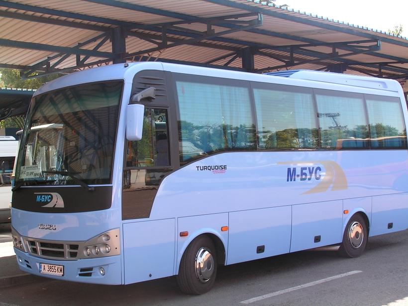 До автовокзала Солнечного Берега вас доставит комфортабельный автобус «М-бус»