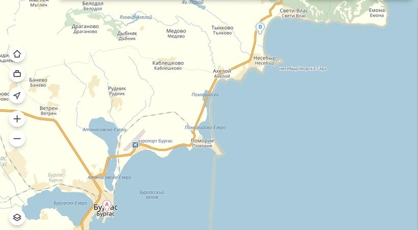 От железнодорожного вокзала Бургаса («Автогара Юг») до центральной станции Солнечного Берега ходят автобусы № 10 и № 22